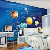 cartoon mural planet