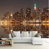 3D New York City Night View Lights Wallpaper Home or Business