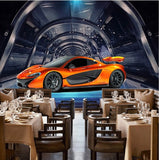 orange sports car wallpaper