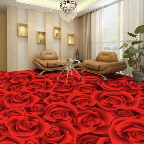 red roses floor wallpaper