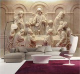 the last supper stereo sculpture mural
