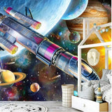 planets spaceship rocket wallpaper