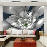 transparent abstract flower mural