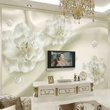 silk flowers wall mural