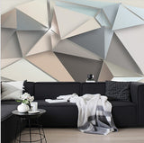 abstract geometric wall mural