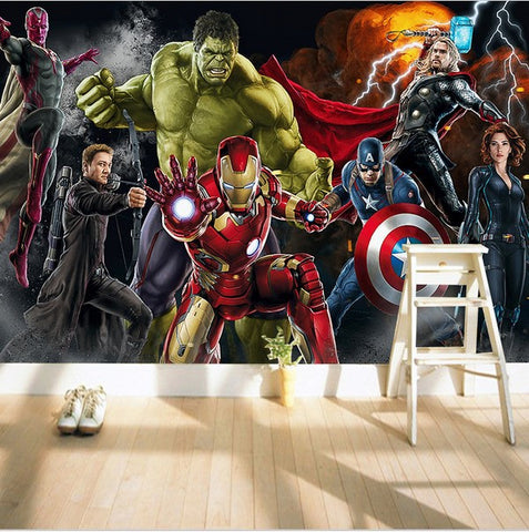 3d avengers wallpaper for walls