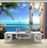 balcony ocean view wallpaper