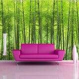 green bamboo wall paper