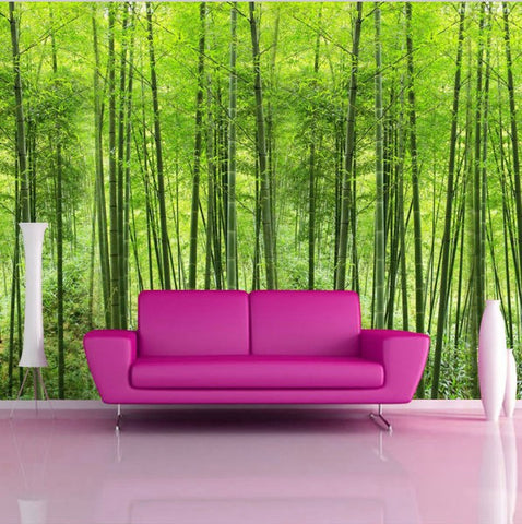 3D Customized Green Bamboo Forest Photo Wall Mural Wallpaper
