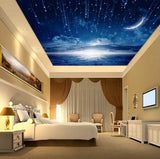 3d shooting stars ceiling wallpaper