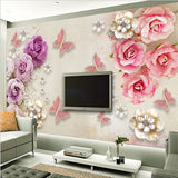 diamond butterflies wall mural
