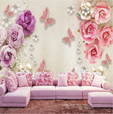 diamond butterflies jewelry wall mural