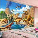 wall mural cartoon dinosaur