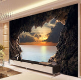 cave sunrise wall mural