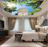 green tree ceiling mural