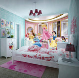 3D Snow White Ariel Cinderella Cartoon Princesses Wallpaper