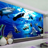 sea animals wallpaper mural