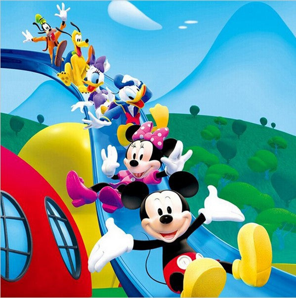 3d Mickey Minnie Mouse Donald Daisy Duck On Slide