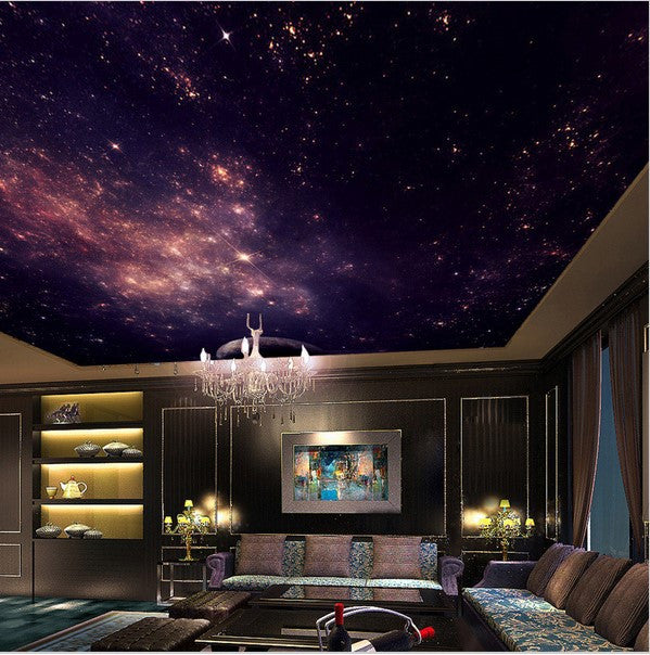 3d Wallpaper Mural Night Clouds Star Sky Wall Paper: 3D Star Nebula Ceiling Wallpaper Night Sky Stars Galaxy