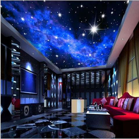 night sky ceiling wallpaper