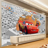 3d cars cartoon wall mural