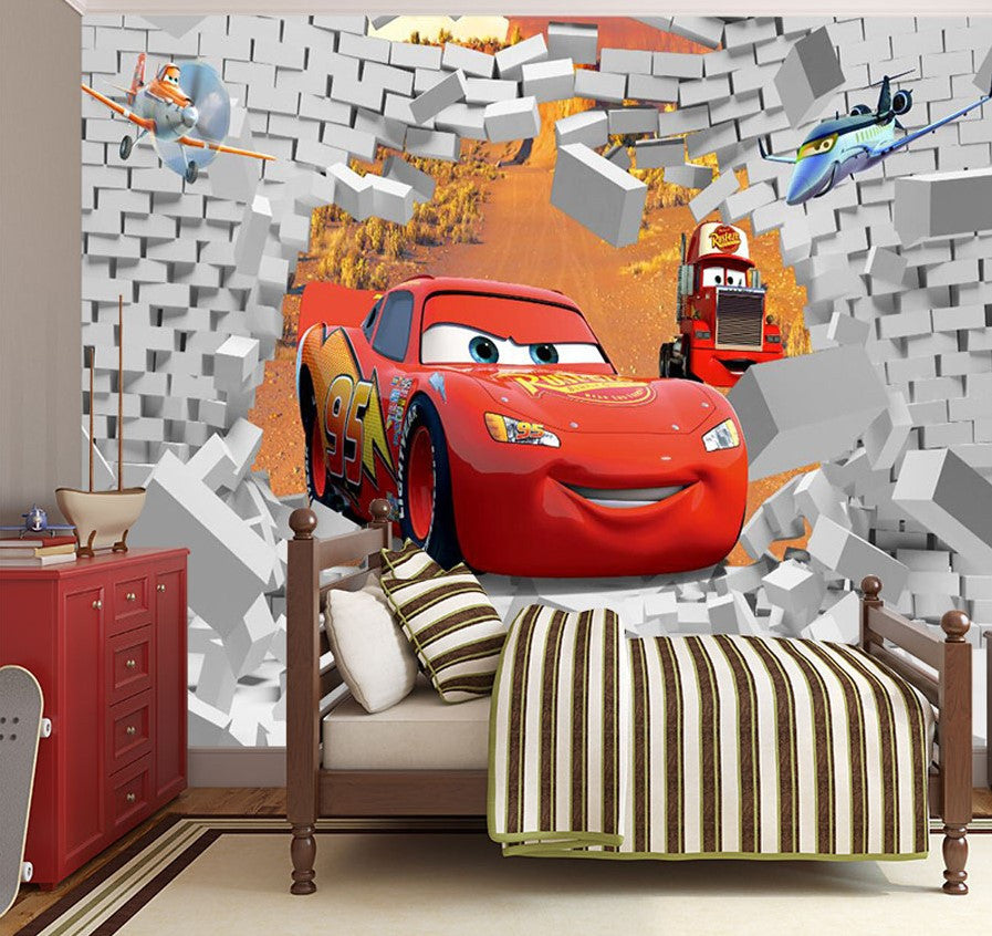 Cars Lightning McQueen Cartoon High Quality 3D Wallpaper