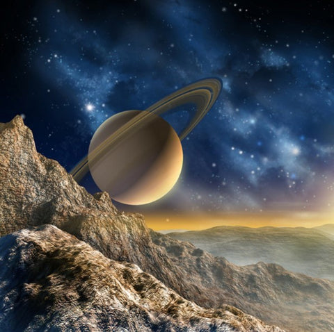 3d Planet Saturn Wallpaper For Walls Galaxy Universe Wall Mural