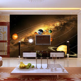 3d planets wall mural