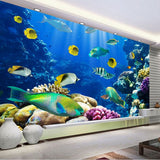 tropical fish sea mural