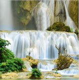 wallpaper forest waterfall