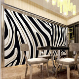 black and white zebra stripe wallpaper