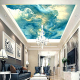 blue abstract clouds ceiling wallpaper