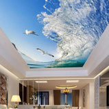 wave ceiling wallpaper