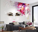 artistic beauty face mural