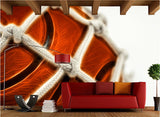 3D basketball wall mural