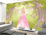 cartoon enchanted forest wallpaper