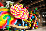 lollipop candy wall mural