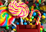 lollipops candy wallpaper mural