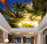 coconut tree ceiling wallpaper
