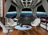 spacecraft interior wall mural