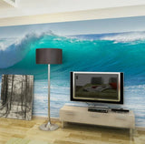 big ocean wave wall mural