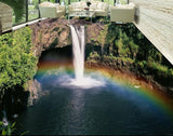 rainbow waterfall self-adhesive floor mural