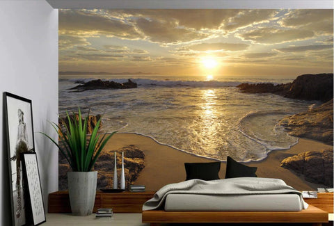 sunrise beach self-adhesive mural
