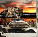 3d animal print leopard wallpaper