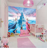Custom 3D Elsa Frozen Cartoon Wallpaper for Walls Kids' Room Mural