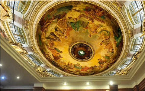 religious painting ceiling mural