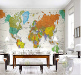 color world map wallpaper