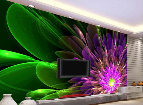 abstract flowers mural