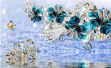 blue diamond jewelry wallpaper