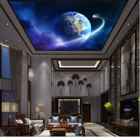 earth wallpaper ceiling